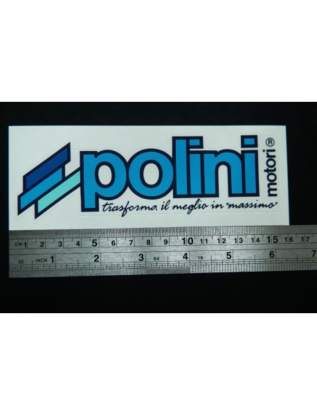 Sticker Original POLINI Italy Medium Size