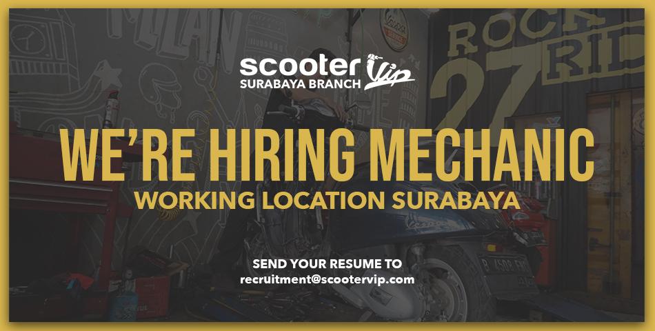 We're hiring mechanic