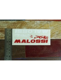 Sticker Original MALOSSI Italy Medium Size Red White