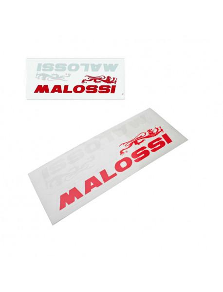 Sticker Original MALOSSI Italy Medium Size Red White